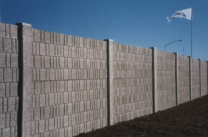 Concrete Fence Walls : Precast concrete walls