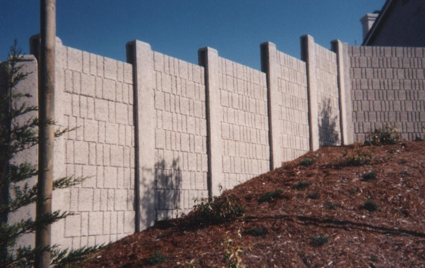 Precast Concrete Fencing : Bay area precast concrete walls fences