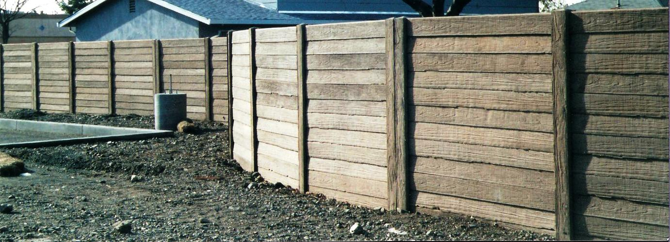 Concrete Fence Walls : Prefabricated wood fence panels fencing