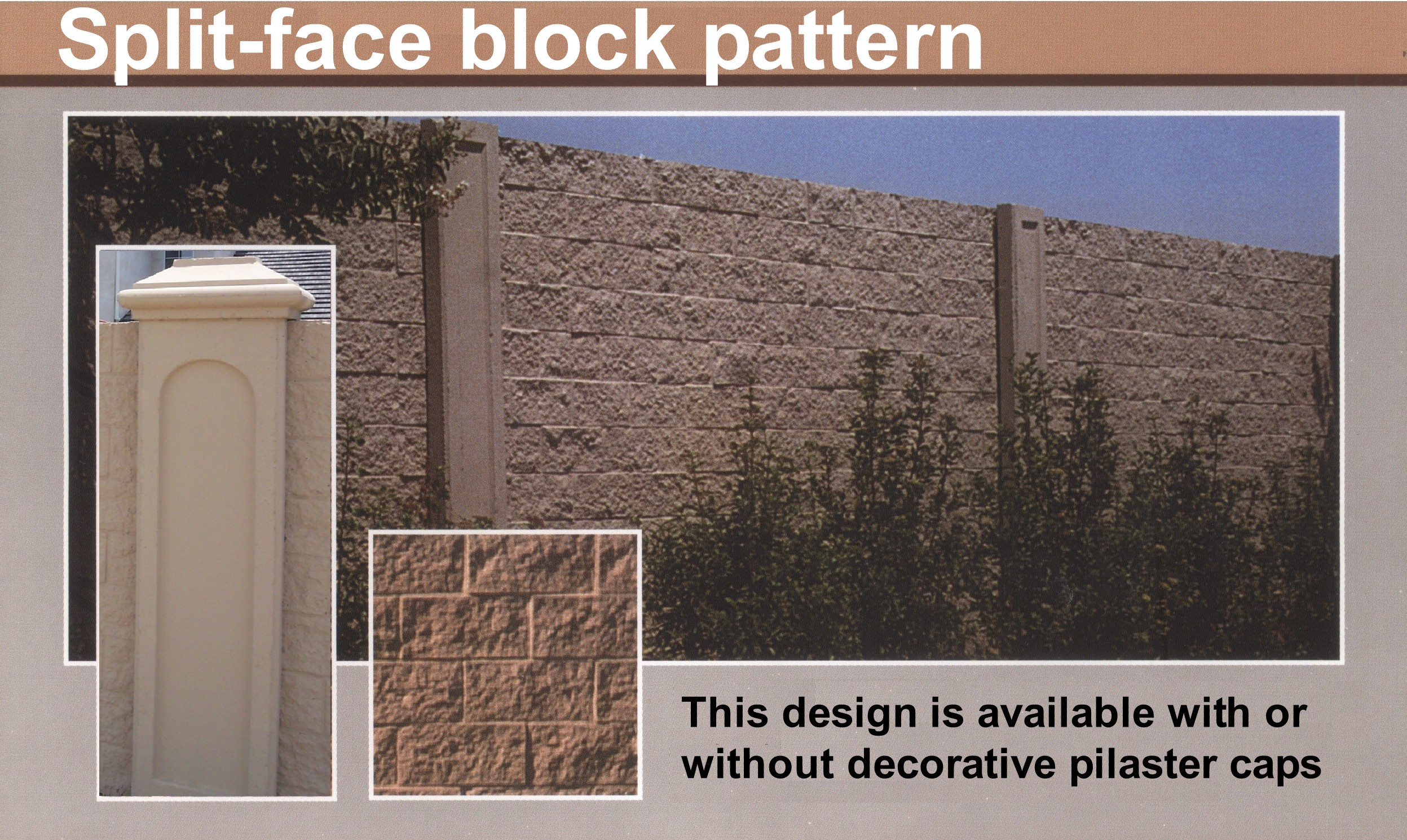 Splitface block precast concrete wall system for Concrete block walls design